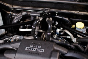Mishimoto BRZ catch can kit final installation