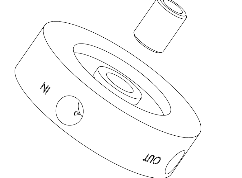 Mishimoto coolant filtration kit housing drawing