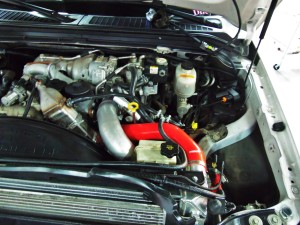 Mishimoto 6.4L silicone hose kit installed