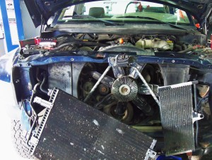 Factory intercooler removed