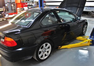 E46 325ci test vehicle