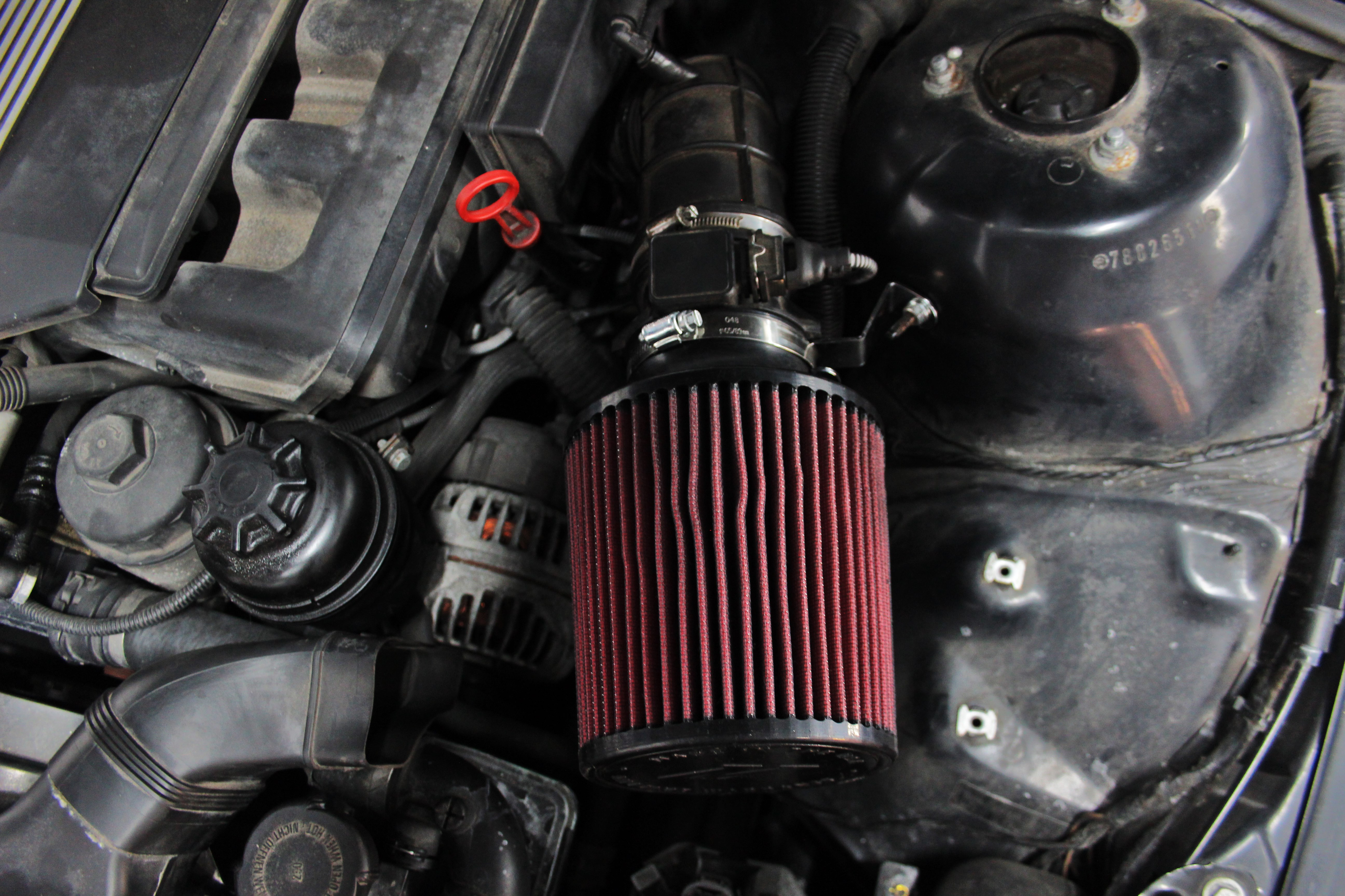 Bmw E46 3 Series Intake System Rd Part 1 Initial Design 318ti Engine Diagram Mishimoto Cone Filter Installed