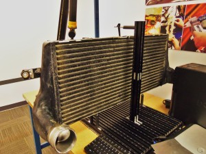 Factory intercooler on CMM table