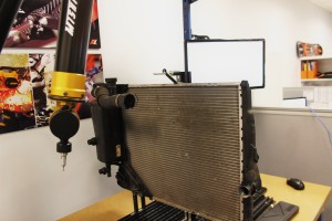 Stock radiator on CMM table