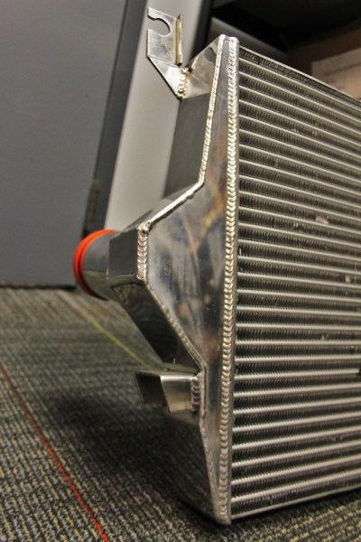 Cut-and-weld intercooler end tanks