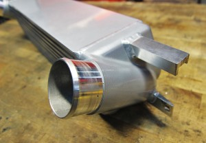 Mishimoto intercooler hot-side inlet