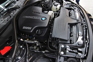 Stock BMW F30 engine bay