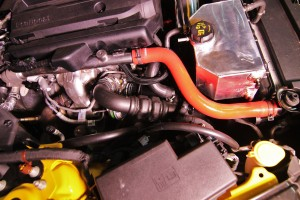 Stock Mustang EcoBoost hot-side intercooler pipe