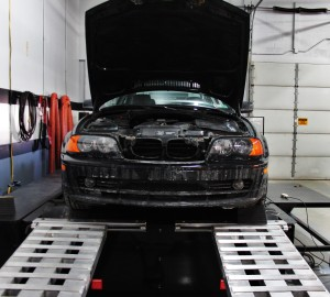 E46 on dyno for intake testing