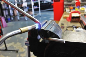 Mishimoto exhaust hanger fabrication