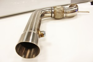 Mishimoto EcoBoost downpipe prototype, rear section