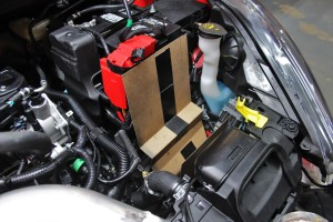 Ford Fiesta ST intake airbox cardboard template