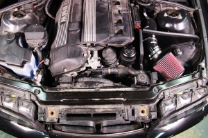 Stock BMW E46 radiator installed