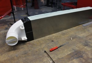 Prototype Ford Fiesta ST intercooler assembled