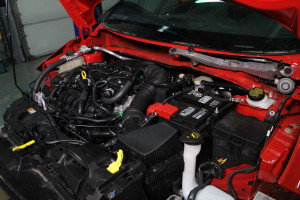Stock Fiesta ST parts in the engine bay