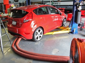 Ford Fiesta ST radiator fan idle testing