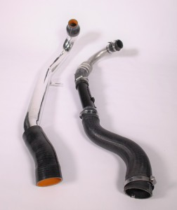 Hot-side intercooler pipe comparison