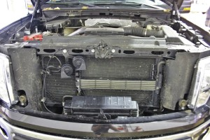 F150 Intercooler development test vehicle engine bay
