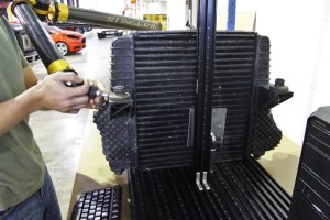 Factory F150 intercooler on CMM table