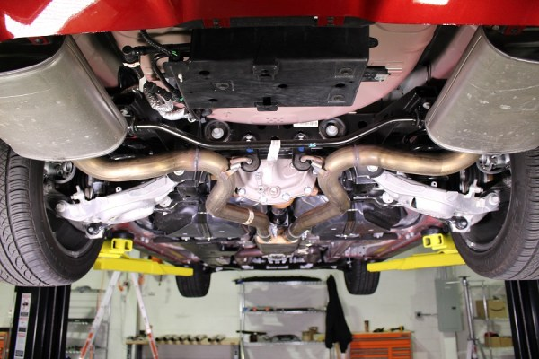 Stock Mustang GT exhaust