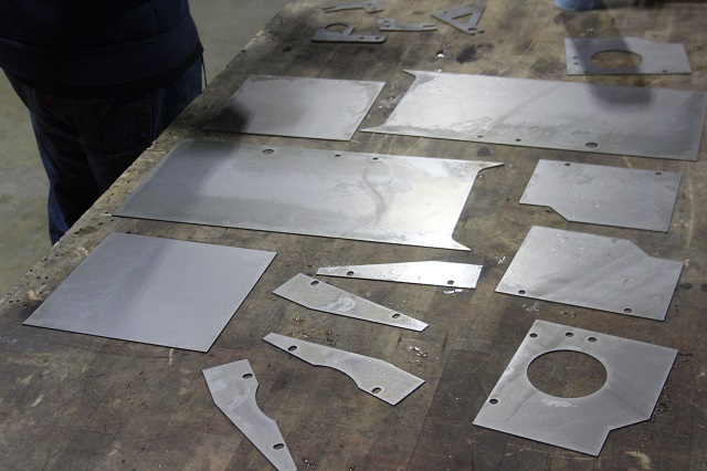 Final cut pieces for the prototype 2016 Civic intake