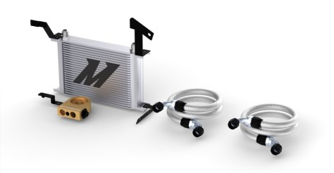 Rendering of the 2016 Camaro SS Oil Cooler in Silver