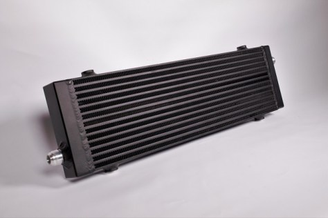 Mishimoto's Mustang Oil Cooler in stealth black