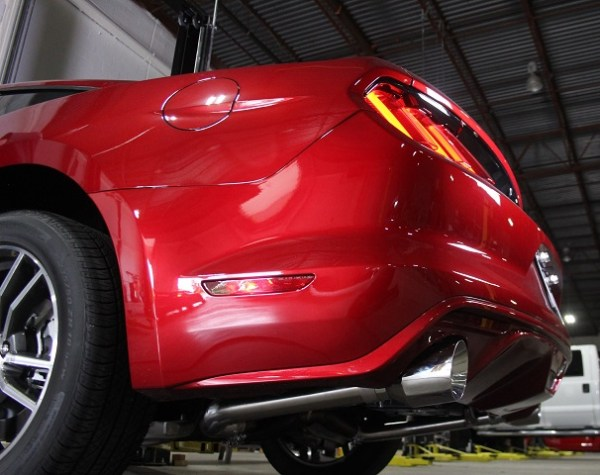 Mishimoto's Mustang GT Exhaust with polished tips
