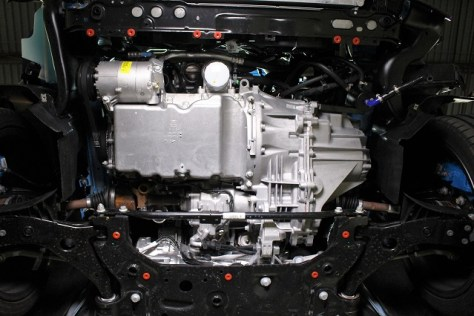 Underside of the Focus RS without intercooler piping