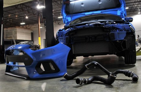 Stock Focus RS intercooler piping