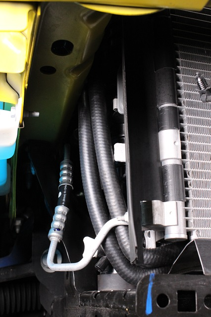 Mustang auto trans cooler lines installed