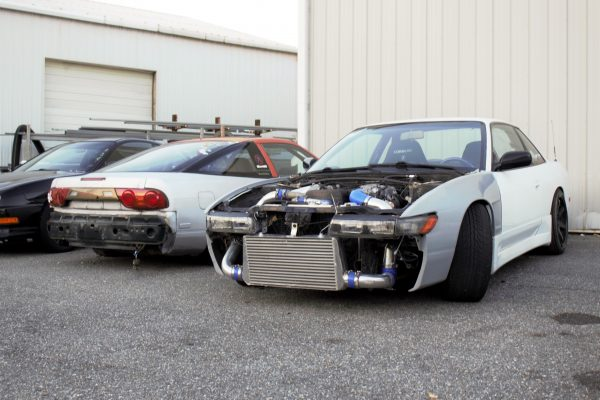 Fellow FSD member Jarreth with his 1JZGTE swapped 240SX on the right