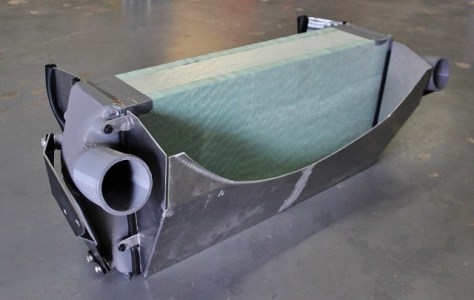 Prototype Cummins intercooler and shroud