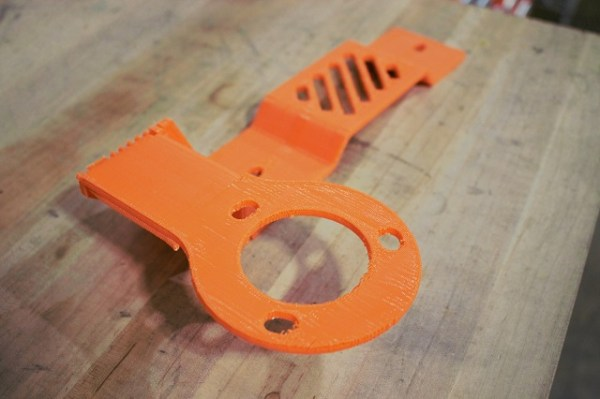 Prototype bracket for the Titan XD coolant filtration kit