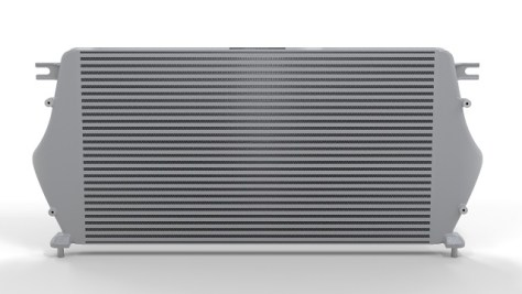 Render of Mishimoto's Titan XD intercooler