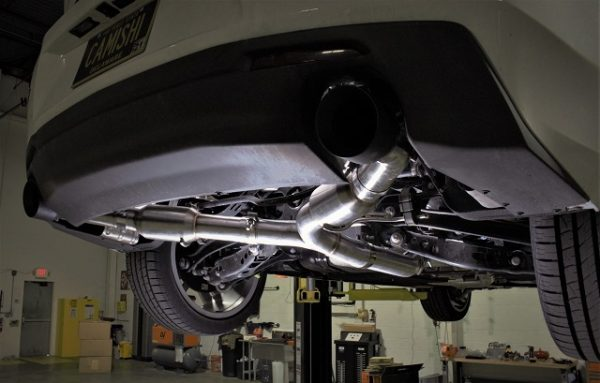 Shot of the dual tip matched with the rear valence