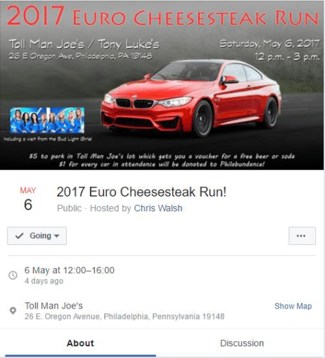 This year's Facebook event page.