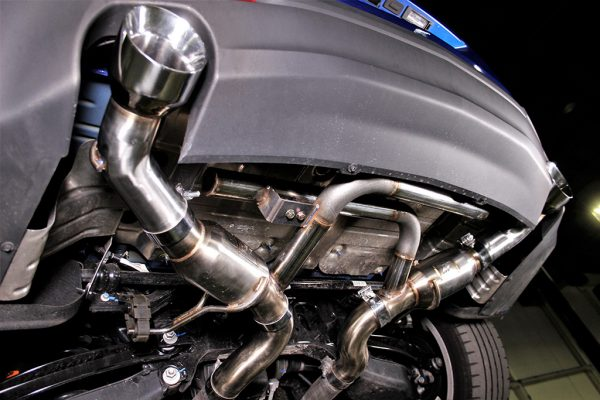 Undershot of our prototype exhaust
