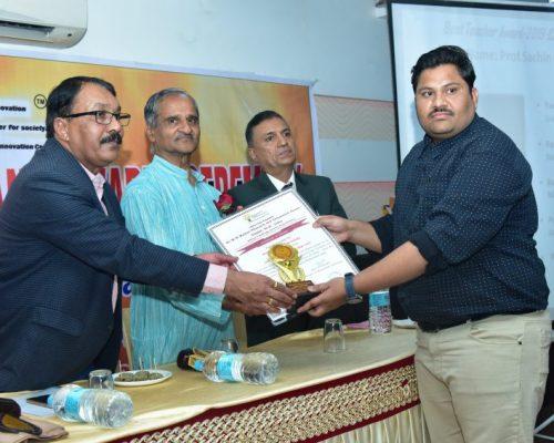 Best teacher Award-by Dr. P.V. Pawar Research and Innovation Center