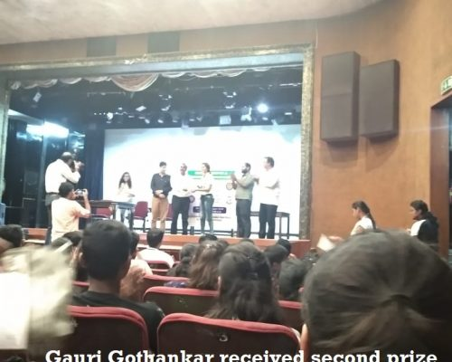 Gauri Gothankar received second prize for poster competition