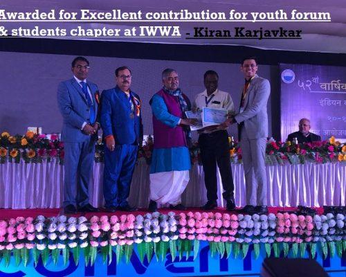 Indian Water works association Award2