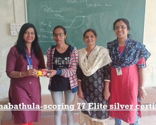Prerana Anabathula-scoring 77 Elite silver certification-NPTEL