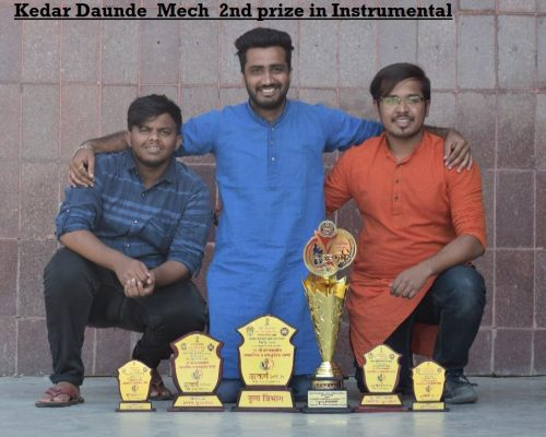 Utkarsh state level socio-cultural competition 2020-Kedar Daunde_Mech_2nd prize in Instrumental