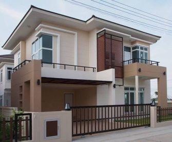 ���ัวอย่างผลงาน ���ริษัทรับสร้างบ้าน ���ุรีรัมย์ ���้านสวยหรูหราแบบโมเดิร์น Photo by kunnapab _ Phot (1)