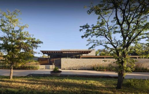 Completed in 2014 in Cherry Hills Village_ United States. Images by Raul Garcia. Nestled into the rural_ rolling l
