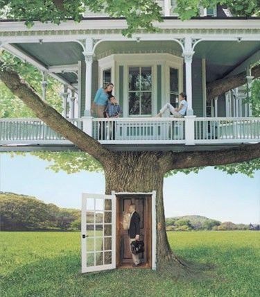 A REAL tree house_ It_s like the REAL old home that I always wanted to own say down in GA or SC.. Wrap around porc