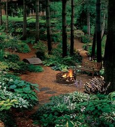 An outdoor fire pit or fireplace... squeeze in a little more time outside on those crisp fall evenings.