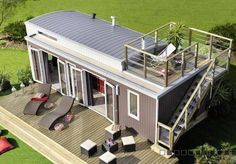 Beautiful _Small_ home (330 Sq Feet_ish) in France. Deck on top is a necessity for any tiny house I build.