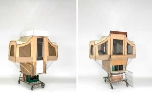 Camper Kart is a Tiny Home That Pops Out of a Shopping Cart. Brilliant idea to house the homeless_ in_laws and guest who over stay their welcome__(that was sarcasm)