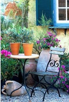 Creating a Mediterranean seating area in a small shaded courtyard _ Google Search _courtyard _creat